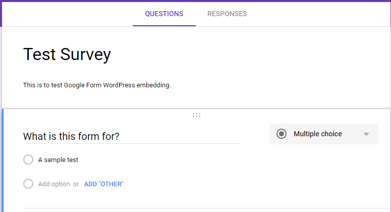 How to embed a Google Form into a WordPress post - wpSaaS